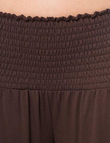 taglia unica Pantaloni Berydale Braun Stile Harem Donna Marrone 67ZZwqxB