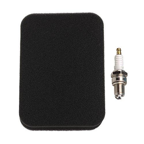 Air Filter + Spark Plug for Honda GX240 GX270 GX340 GX390 Generator (Ex Spark Plug)
