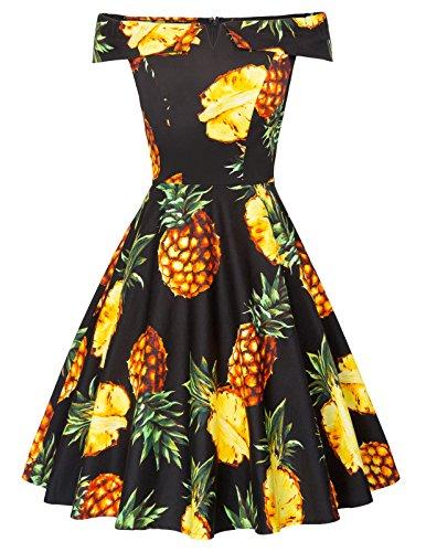 Belle Poque Plus Size Vintage Cocktail Dress Off Shoulder XL BP522 -