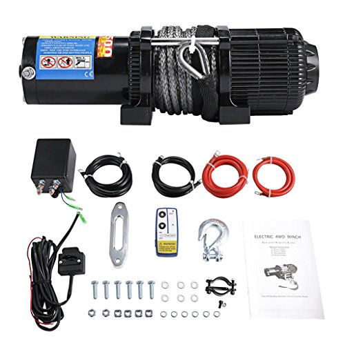 ALAVENTE 4500 Lb 12V UTV Utility Winch Set with Wireless ...