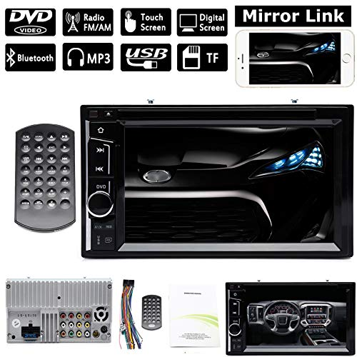 Double 2Din Car Stereo 6.2 Inch Touchscreen DVD Player AM FM Radio Receiver in-Dash with Bluetooth Steering Wheel Control for Scion tC 2005-2015