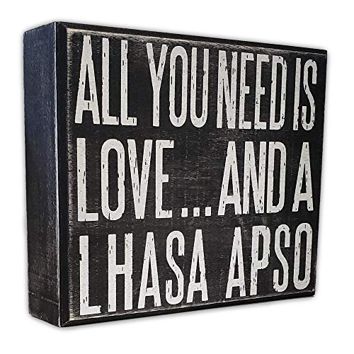 JennyGems - All You Need is Love and a Lhasa Apso - Wooden Sign