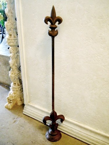 Amazon.com: Cast Iron French Fleur De Lis Adjustable Doorstop With .