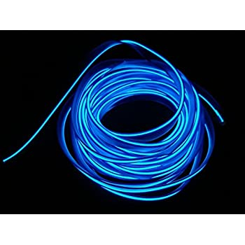 Lychee Neon Light El Wire with Battery Pack, 15 Feet, Blue ...