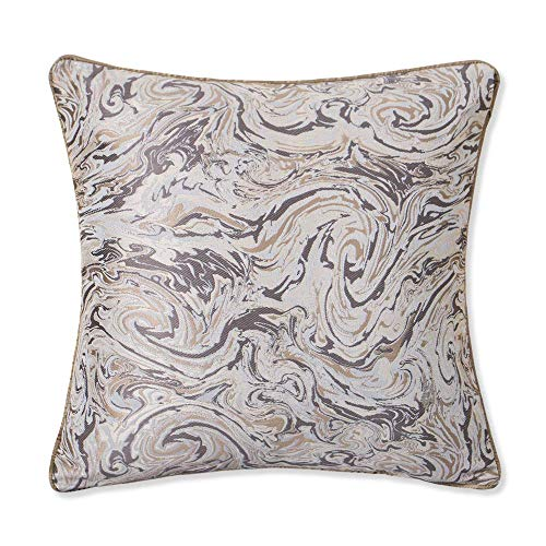 EMME Albaster Throw Pillow Covers Jacquard Weave Cushion Cover for Couch Sofa Home Decoration Soft and Cozy Pillow Cases 18 x 18 Inches 1 Pack (Pillows Scarves Matching Bed And)