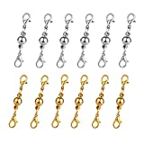 Dsmile Gold/Silver Plated Ball Tone Magnetic Lobster Clasps for Jewelry Necklace Bracelet