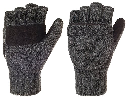 Metog+Suede+Thermal+Insulation+Mittens+Black+tweed+Regular