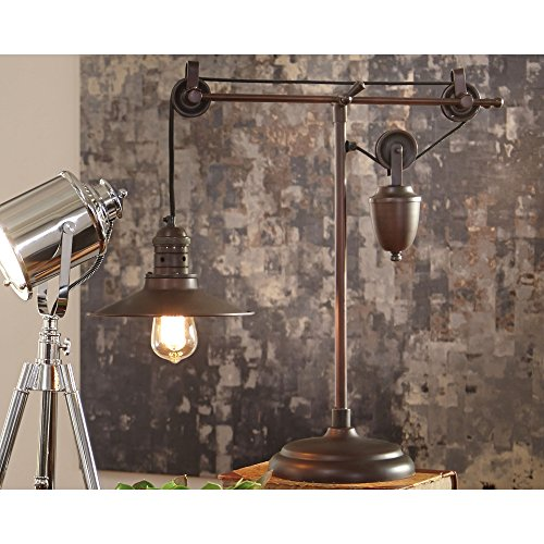 Ashley Furniture Signature Design - Kylen Desk Lamp with Metal Shade with in-Line Switch - Industrial - Bronze Finish by Signature Design by Ashley (Image #2)