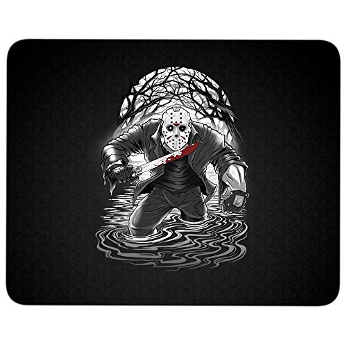 Jason Voorhees Friday The 13th Halloween Non-Slip Rubber Base Mousepad for Laptop, Computer & PC, Fan of Friday The 13th Film Mouse Pad(Mouse Pad - Black)
