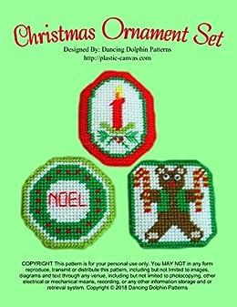 Plastic Canvas Christmas Ornament Patterns.Christmas Ornament Set Plastic Canvas Pattern