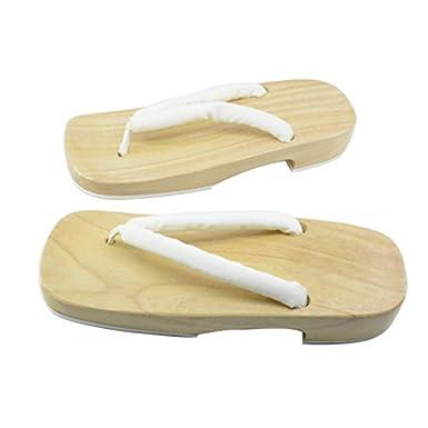 Amazon.com: Japanese Style Wooden Geta Clogs Sandals Ninja ...