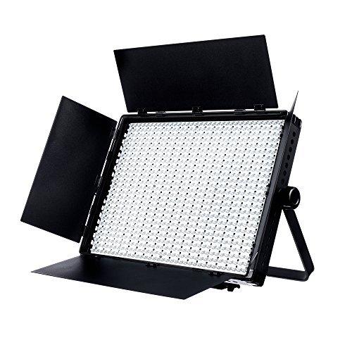 Fovitec 1x Daylight 900 XD LED Panel w/Barndoor Filters & Case - [95+ CRI][Continuous Lighting][Stepless Knobs][V-Lock Compatible][5600K] [並行輸入品]   B07FQ63845