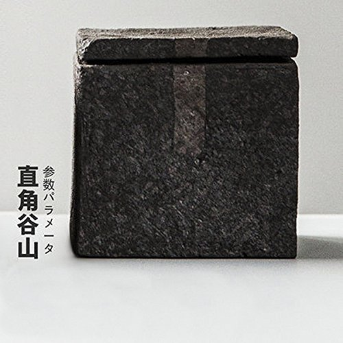 Handmade Chinese Kung fu Tea Volcanic mud tea canister (Square Angle 255ml) by Homolantianensis