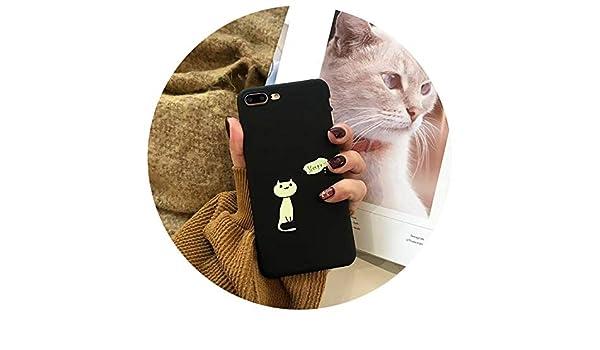 Amazon.com: Cartoon Cute Cat Phone Case Cover Funda for ...