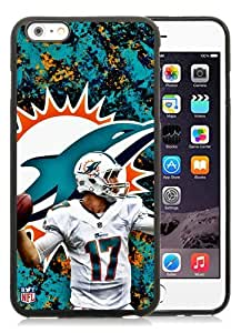 Unique And Durable Custom Designed Case For iPhone 6 Plus 5.5 Inch TPU With Miami Dolphins Ryan Tannehill Black Phone Case
