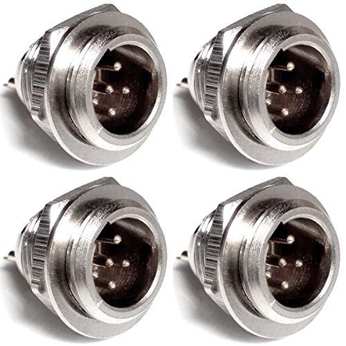 CESS TA5M TA5F XLR Male Plug Jack Socket - 5 Pin Mini XLR Cable Connector (jcx) (4 Pack)
