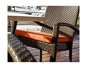 Patio comedor brazo silla cojín (lienzo Tuscon)