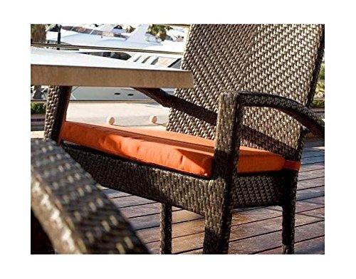 Hospitality Rattan Patio Dining Arm Chair Cushion (Linen ...