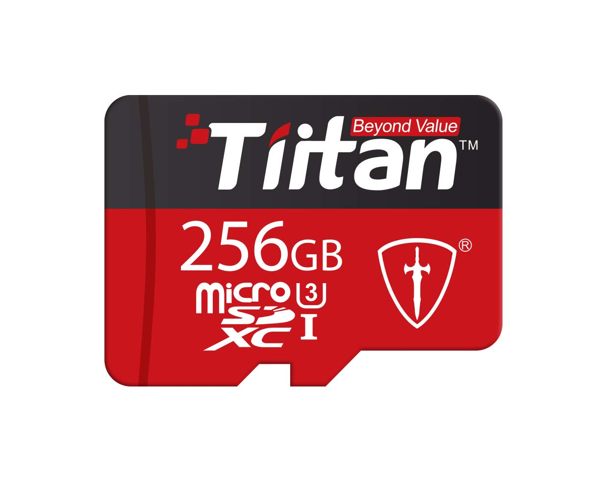 TIITAN 256GB UHS Class 3 Microsdxc Memory Card With Adapter