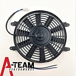 "A-Team Performance 150051 10"" HIGH PERFORMANCE 850 CFM 12V ELECTRIC RADIATOR COOLING FAN - REVERSABLE FLAT BLADE 10 BLADE"