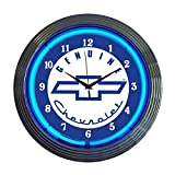 chevys restaurant - Neonetics Home Indoor Restaurant Kitchen Decorative Gm Genuine Chevy Neon Wall Clock