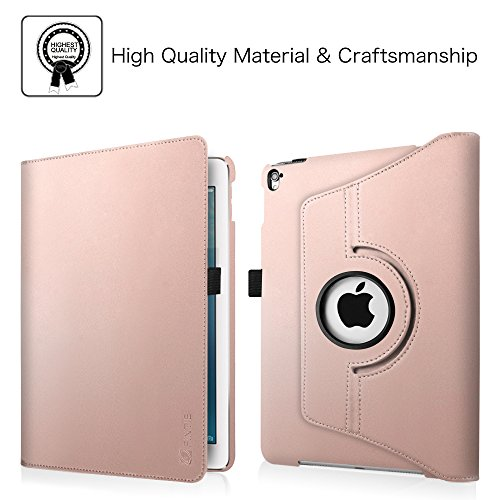Fintie iPad Pro 9.7 Case - 360 Degree Rotating Stand Case with Smart Cover Auto Sleep / Wake Feature for Apple iPad Pro 9.7 Inch (2016 Version), Rose Gold Photo #5
