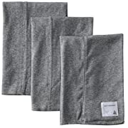 Burt's Bees Baby - Set of 3 Bee Essentials Solid Burp Cloths, 100% Organic Cotton, Heather Grey