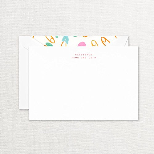 - Crane & Co. Greetings From The Crib Cards with Lined Envelopes- Pack of 20