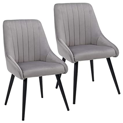 Outstanding Duhome Accent Chairs Set Of 2 For Living Room Modern Side Chair Guest Chair Velvet Fabric Ergonomic Padded Seat Armrest With Metal Legs Indoor Coffee Beatyapartments Chair Design Images Beatyapartmentscom