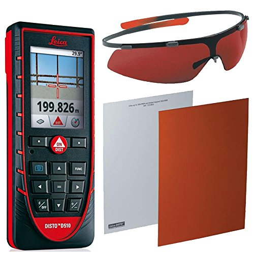 Leica Disto E7500i Laser W/ GLB30 Laser Enhancement Glasses & GZM26 Target Plate by aSavings