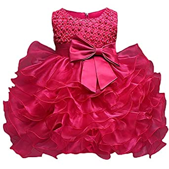 5be18f1c0 Placehab Branded Toddler Girl Christening Gown Dress Infant Baptism Clothes  Kids Party Costume for Baby Girl 1st Birthday Newborn Bebes: Amazon.in:  Clothing ...