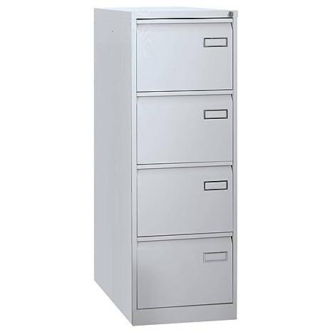 Armario archivador de cocina metal, 4 cajones, Mis. 470 x P H 1321 x