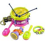 Appliances Packages Samsung Best Deals - 5pcs New Roll Drum Musical Instruments Band Kit Kids Children Toy Gift Set EA77 IGN fair