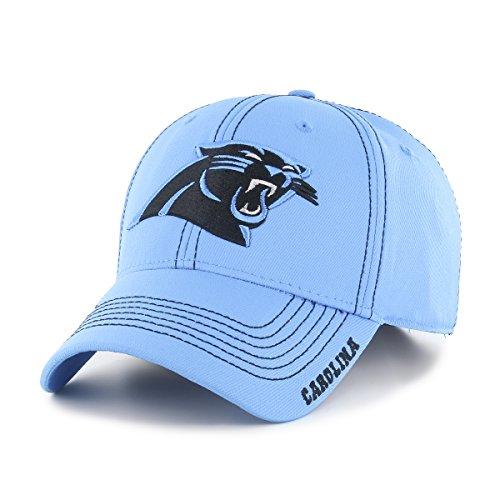 NFL Carolina Pantshers Adult Start Line Ots Center Stretch Fit Hat, Large/X-Large, Glacier Blue