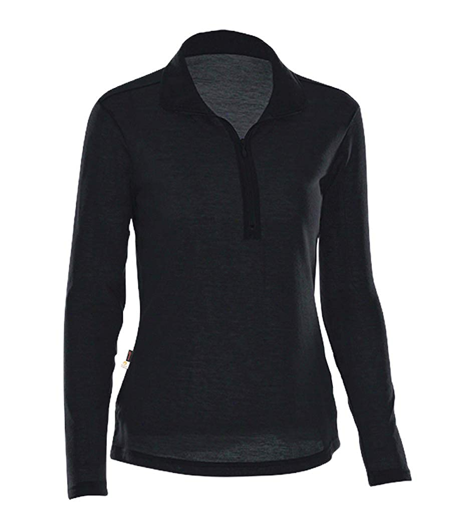100/% Polyester Fleece Brush Lined Pullover Polygiene Odor Protection Litume Womens Quarter Zip Long Sleeve Quick Dry