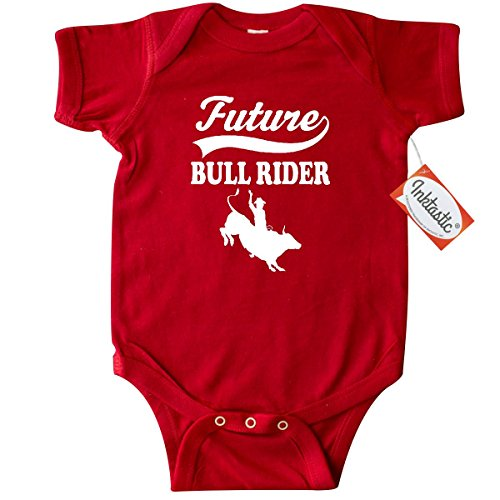 Inktastic Baby Boys' Future Bull Rider Rodeo Riding Infant Creeper 24 Months Red (Bull Rider Rodeo)