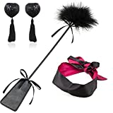 Bondage Under Bed Restraint Kit SM Sex Toy Flirt Whip Spanking Paddle Feather Tickler Hand Slapper Satin Eye Mask Blindfold Bra Nipple Cover Pasties Stickers Nipple Jewelry Nipple Toys