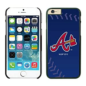 DIY Custom iPhone 6 Phone Case Atlanta Braves TPU Rubber Phone Case For Apple iPhone 6 4.7 Inch Case 3 Black