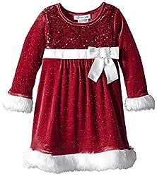Girls Sequin Santa Dress