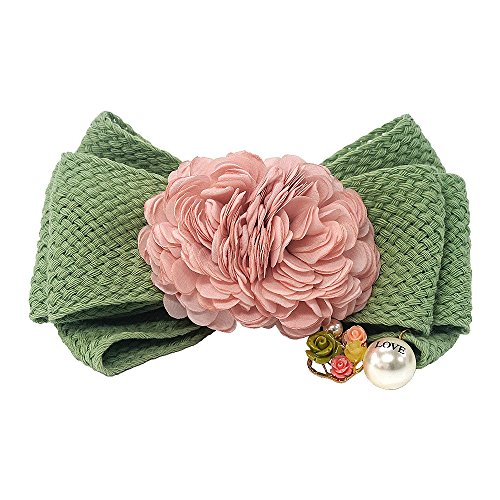 - VJU Blooming Florence Blooming Marigold Mint Green Handmade Hair Barrettes Clips Pins Hairpins Accessories Bow Jewelry Hair Accessories Korean Fashion Best Gifts Presents for Women Girls Mom