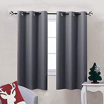 Amazon.com: Bedroom Blackout Curtain Window treatment - (Grey ...
