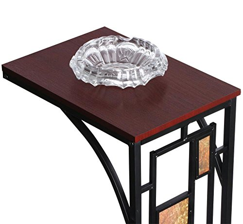 Coffee Tray Sofa Side Table: Topeakmart C Shaped Side Sofa Snack Table Coffee Tray End