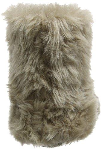 Eaze Women's Fur Bootie Hi-Top Slippers Grey (Mink) 3ajAetJ7Ci