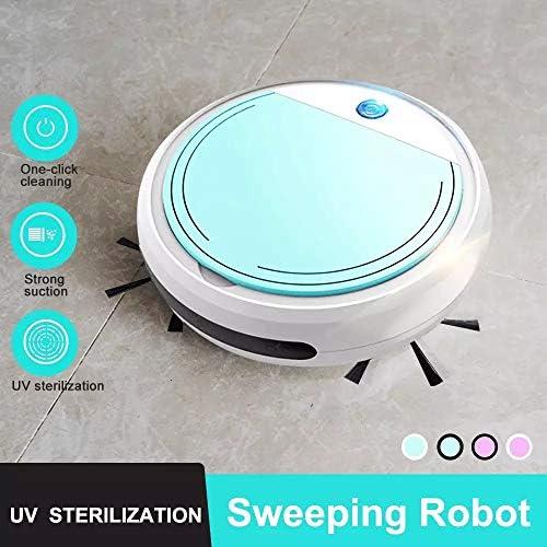 AFF Aspirateur Robot Super-Mince 1300 Pa Aspirateur Forte Aspiration sans enchevêtrement Nettoyage Quotidien idéal pour Les Poils d\'animaux/sols durs Tapis Poils Ras