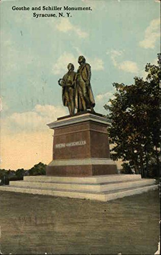- Geothe and Schiller Monument Syracuse, New York Original Vintage Postcard