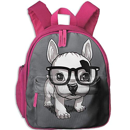 da36370e33 Lovely Striped Frenchie Puppy Funny Kids Bags Boys and Girls School Backpack