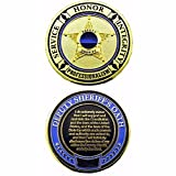 Deputy Sheriff's Oath - Thin Blue Line Challenge Coin - Pack of 12
