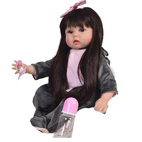 Amazon.com: BABYY Muñeca de bebé Reborn de 22.0 in hecha a ...