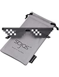 SojoS Thug Life Glasses 8 Bit Style Pixel Deal With It Unisex Sunglasses SJ2049