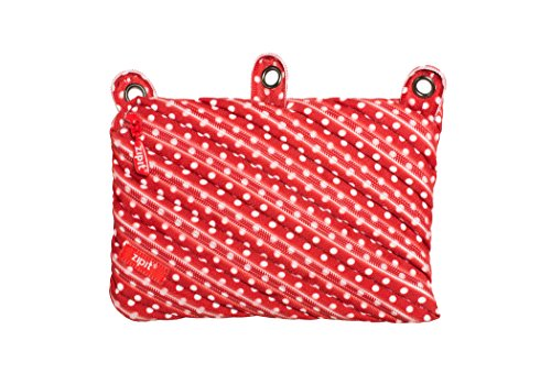ZIPIT Cosmo 3-Ring Pencil Case, Red Dots